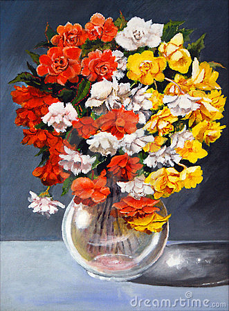 Original begonias painting