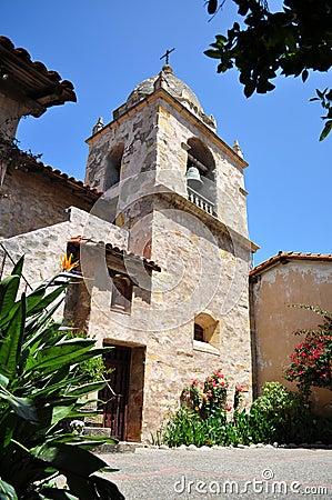 Free Original Bell Tower At Mission San Carlos Borromeo Royalty Free Stock Images - 10659349