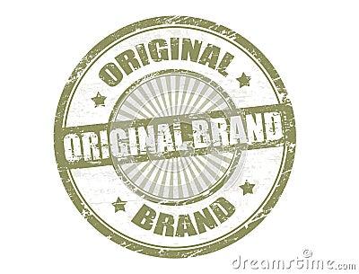 Original brand stamp