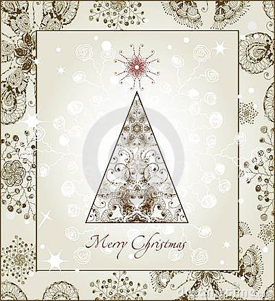 Original Christmas Tree Card. EPS 10