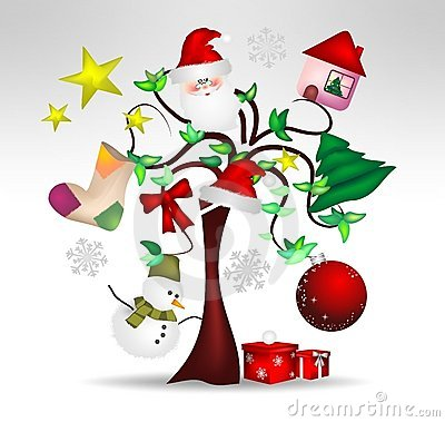 Original Christmas tree decorations and nice