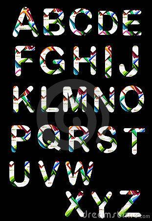 Original  colorful alphabet