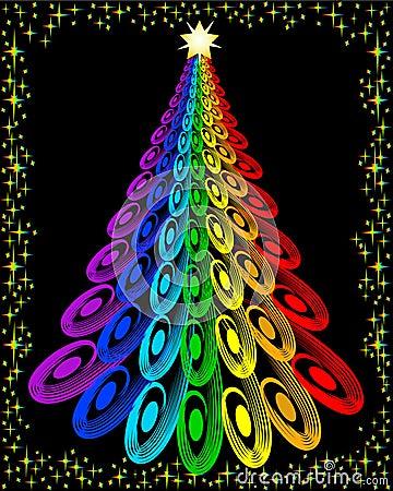 Original colorful christmas tree