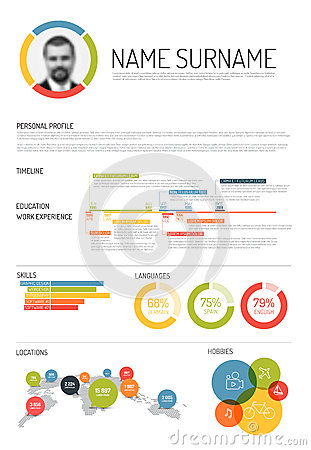 Original Cv Resume Template Stock Vector Image 52672934