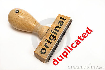 Original duplicated