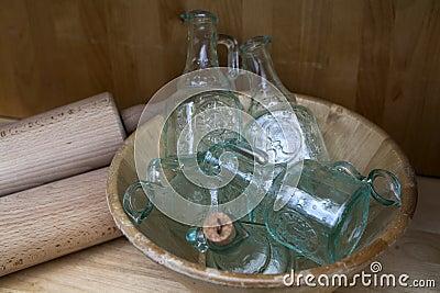 Original empty glass bottles