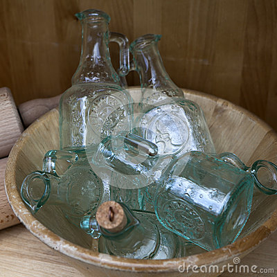 Original empty glass bottles