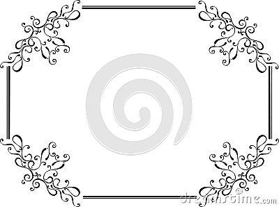 Original floral retro frame