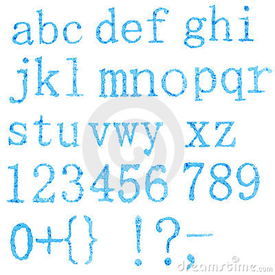 Original font, all alphabet