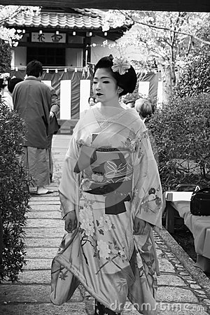 Geisha portrait Editorial Stock Image