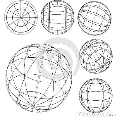 Original globe elements-spheres