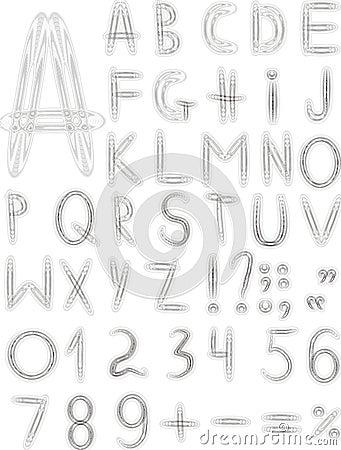 Original grey font