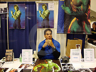 the original Hulk  TV at Wondercon 2010 Editorial Photo