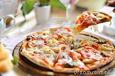 Original Italian seafood pizza
