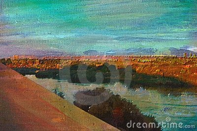Original oil painting of aswan