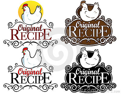 Original Recipe Seal / mark / icon. hen version