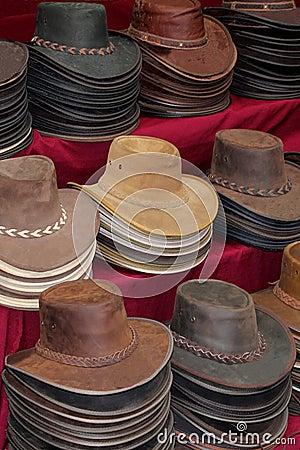 Free Original & Rustic Hand Made Leather Hats, Australia Royalty Free Stock Photo - 37182985