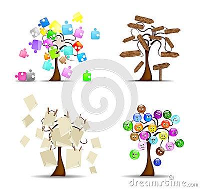 Free Original Set Of Trees Stock Photos - 21783873