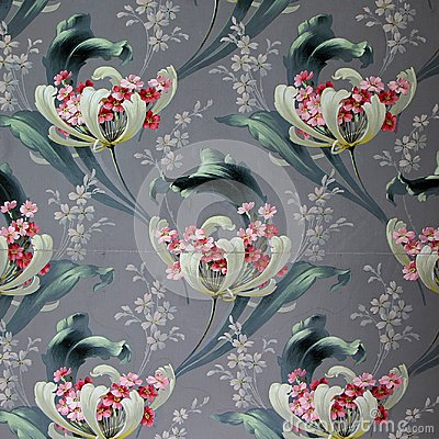 Free Original Textile Fabric Ornament Of The Modern Style. Crock Is Hand-painted With Gouache. Stock Photos - 103089043