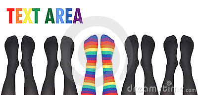 Original Unique Rainbow Socks