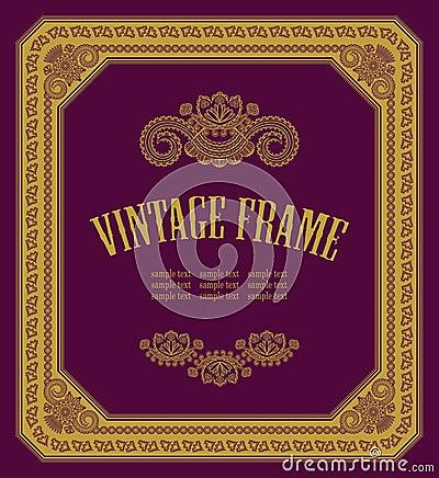 Original vintage frame