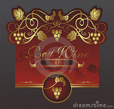 Original wine label