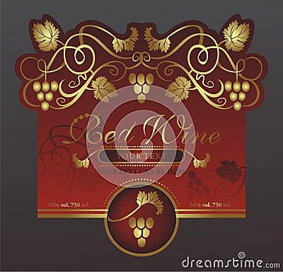 Original wine label
