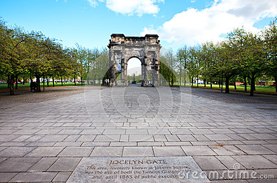 McLennan Arch near High Court, Glasgow Editorial Stock Photo