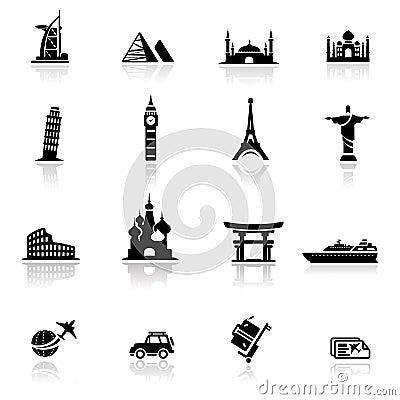 Oriëntatiepunten en de culturen van het pictogram de vastgestelde