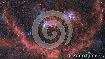 Orion Nebula and surrounding area