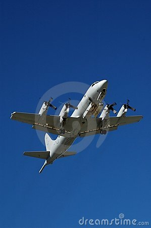 Orion P-3 aircraft in flight