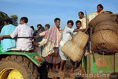 Orissa s tribal people at weekly market. Editorial Stock Photo
