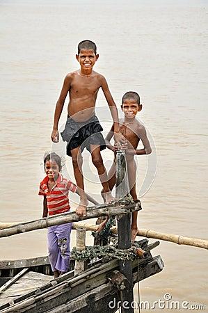 Orissi children Editorial Stock Image