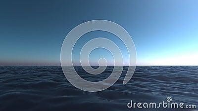 orizzonte aperto mare blu stock footage