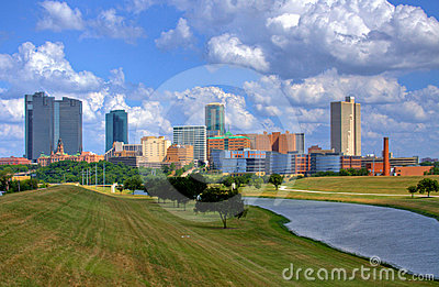 Orizzonte di Fort Worth il Texas