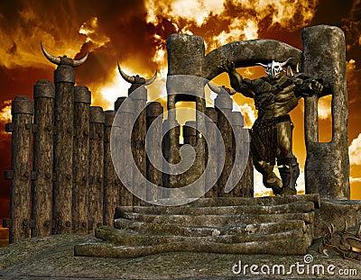 Ork on a portal