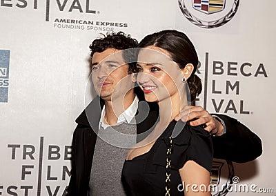 Orlando Bloom and Miranda Kerr Editorial Stock Photo