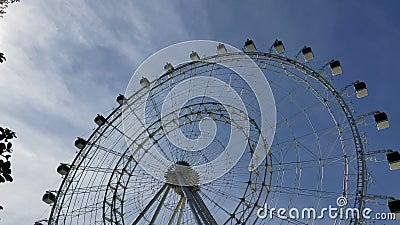 Orlando, Florida, Is the tallest observation wheel on the United States East Coast. Orlando, Florida; February 6, 2019: Is the tallest observation wheel on the stock video footage