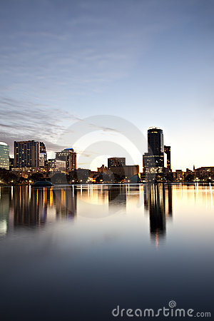 Orlando, Florida twilight skyline
