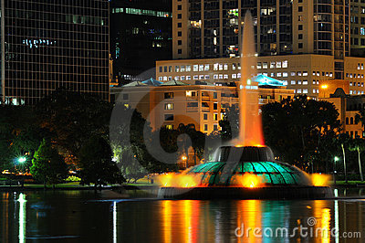Orlando s Lake Eola Fountain