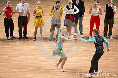 Orld championship on Acrobatic Rock  n  roll and the World Masters boogie-woogie Editorial Photography
