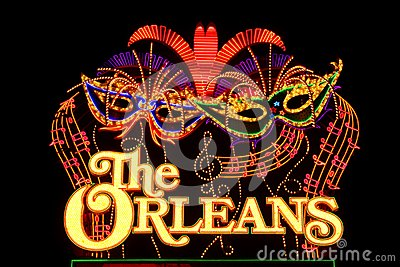 The Orleans Hotel and Casino Sign Editorial Stock Photo