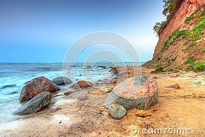 Orlowo cliff at Baltic sea