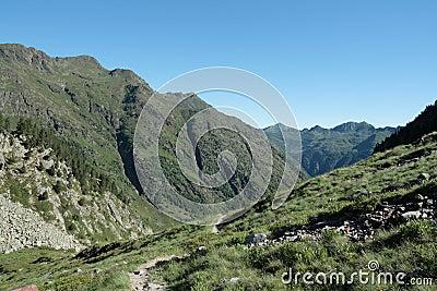 Orlu valley in Pyrenees