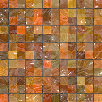 Ornage glossy tiles
