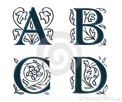 Ornam.Letters w.Leaves 1