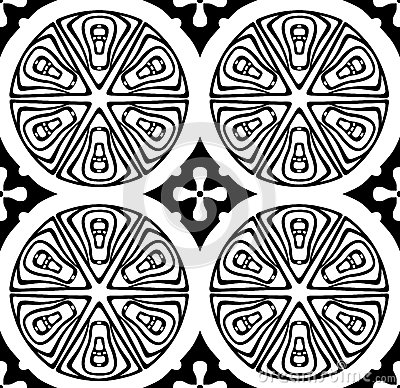 Ornament with abstract rounds