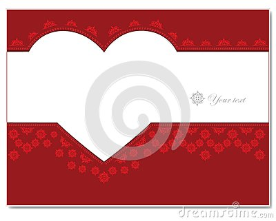 Ornament card with heart