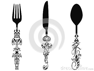 Ornament cutlery set