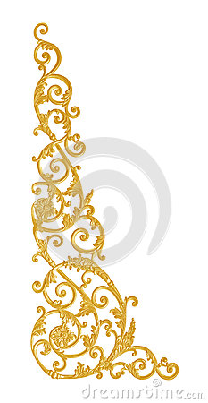 Free Ornament Elements, Vintage Gold Floral Designs Royalty Free Stock Photo - 94489545
